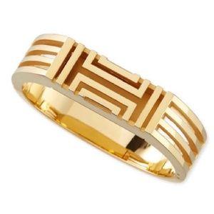 Tory Burch FITBIT FLEX gold bangle hinged bracelet